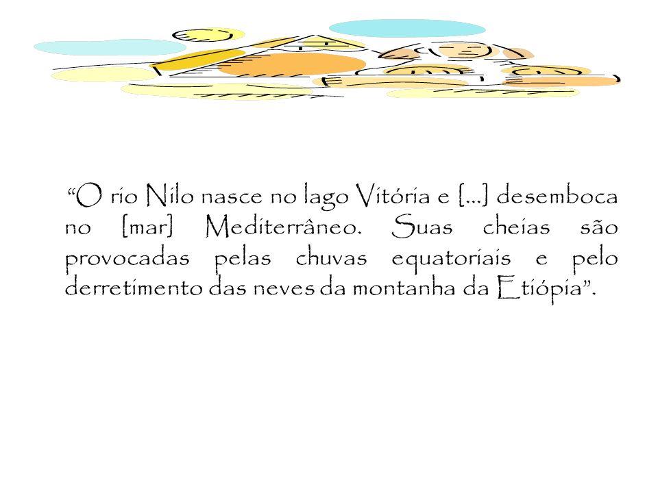 O rio Nilo nasce no lago Vitória e [